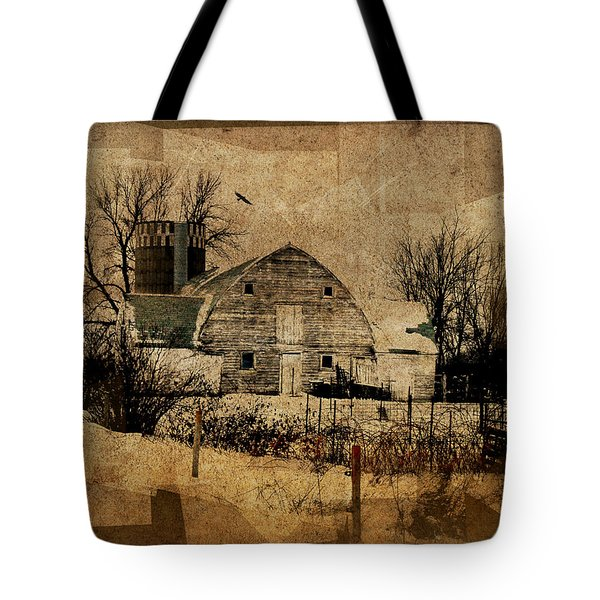 Fragmented Barn  Tote Bag by Julie Hamilton