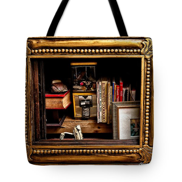 Framed Odds And Ends Tote Bag by Christopher Holmes