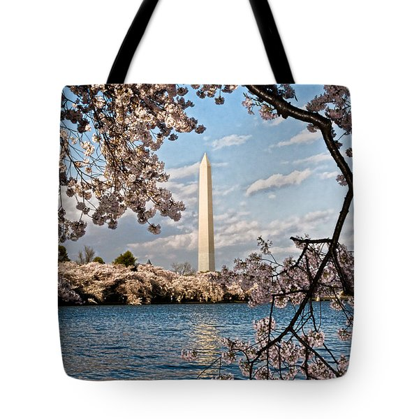 Framed With Blossoms Tote Bag by Christopher Holmes