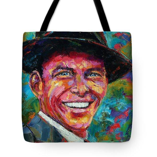 Frank Sinatra Tote Bag by Debra Hurd