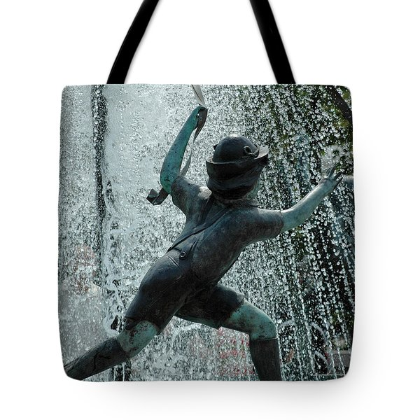 Frankenmuth Fountain Boy Tote Bag by LeeAnn McLaneGoetz McLaneGoetzStudioLLCcom