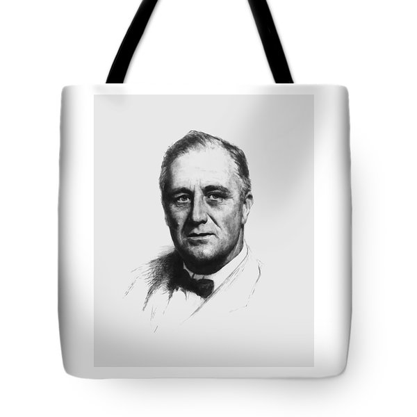 Franklin Roosevelt Tote Bag by War Is Hell Store