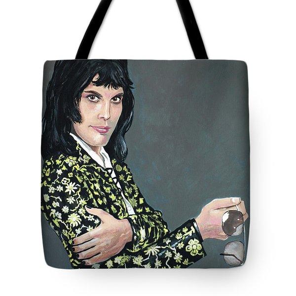 Freddie Mercury Tote Bag by Tom Carlton