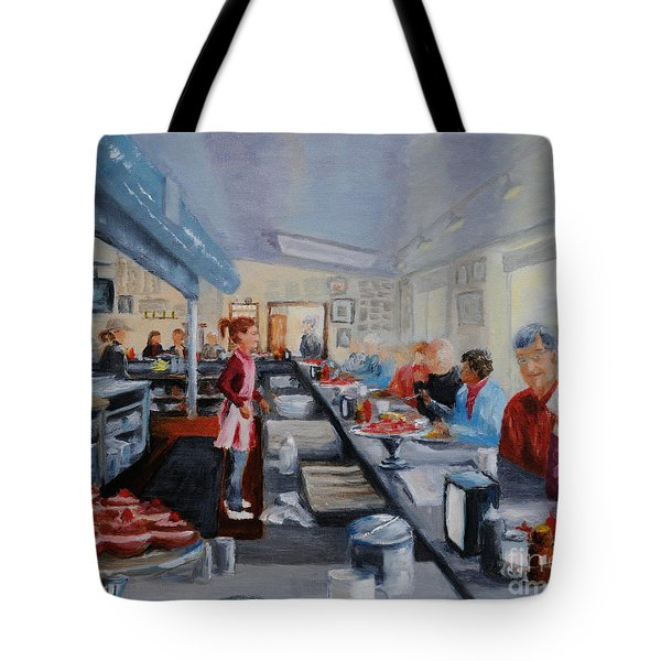 Fred's Breakfast Of New Hope Tote Bag by Cindy Roesinger