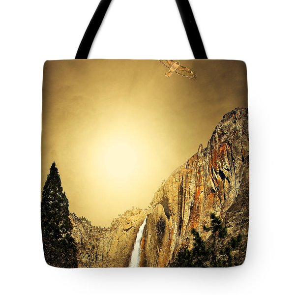 Free To Soar The Boundless Sky . Portrait Cut Tote Bag by Wingsdomain Art and Photography