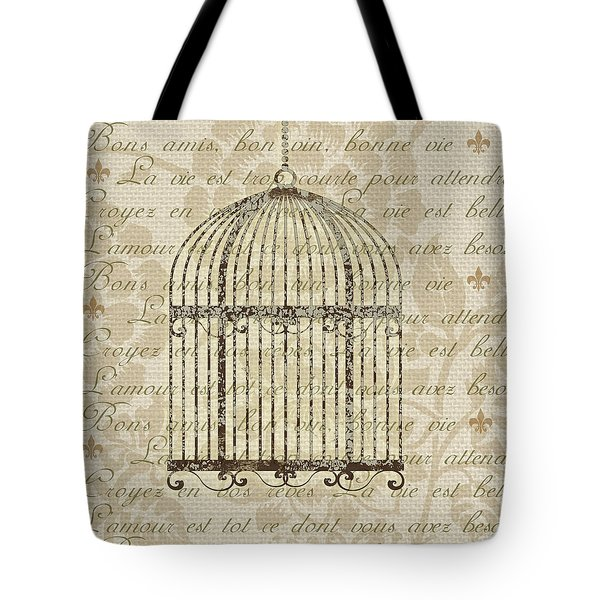 French Birdcage II Tote Bag by Marilu Windvand