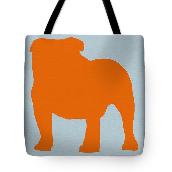 French Bulldog Orange Tote Bag by Naxart Studio