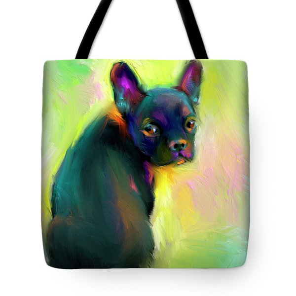 French Bulldog Painting 4 Tote Bag by Svetlana Novikova