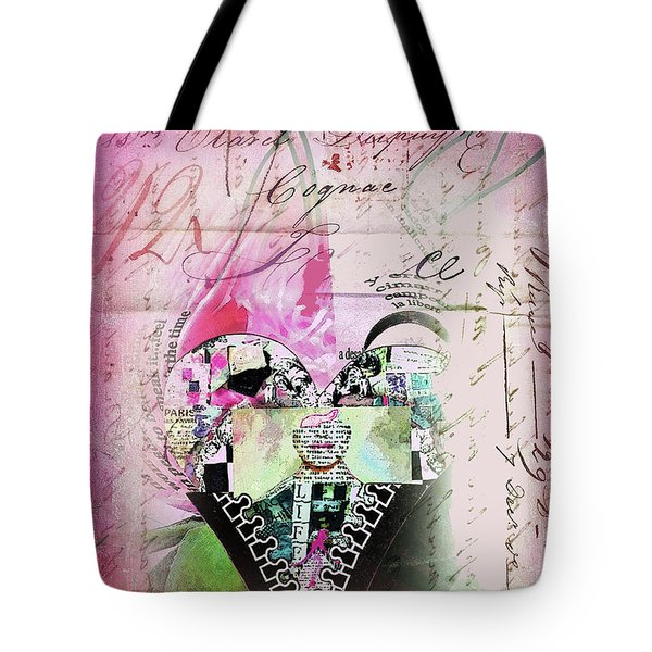 French Pink Heart Tote Bag by Anahi DeCanio
