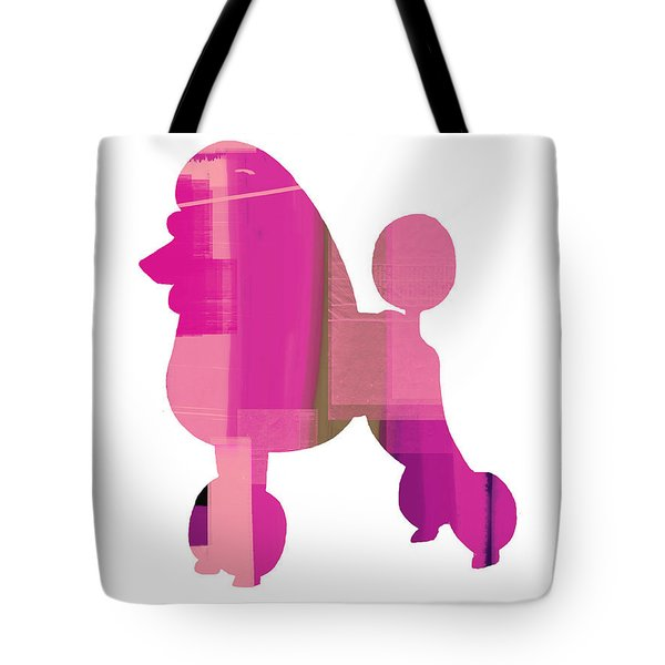 French Poodle Tote Bag by Naxart Studio