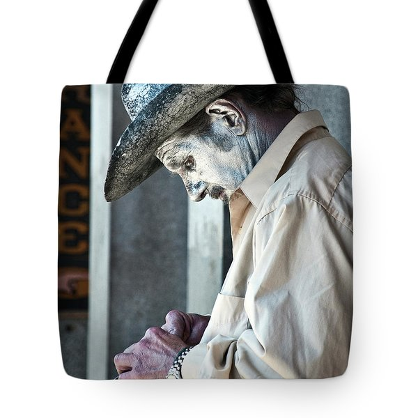 French Quarter Cowboy Mime Tote Bag by Kathleen K Parker