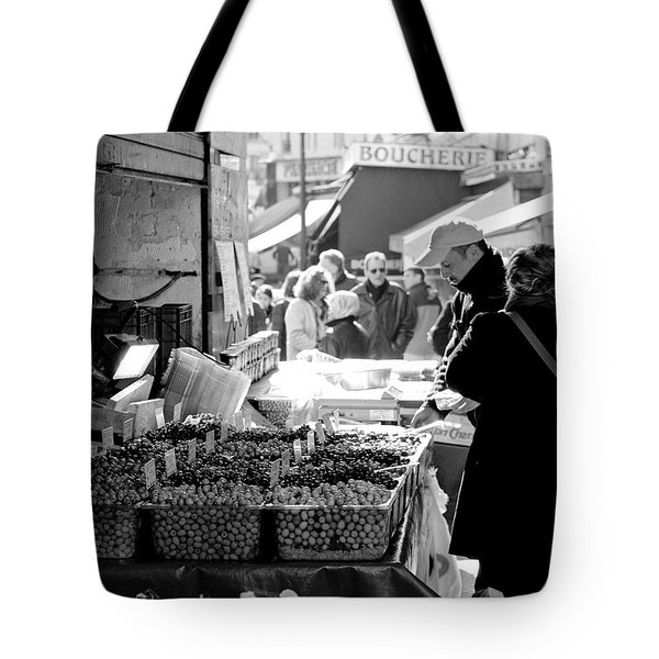 French Street Market Tote Bag by Sebastian Musial