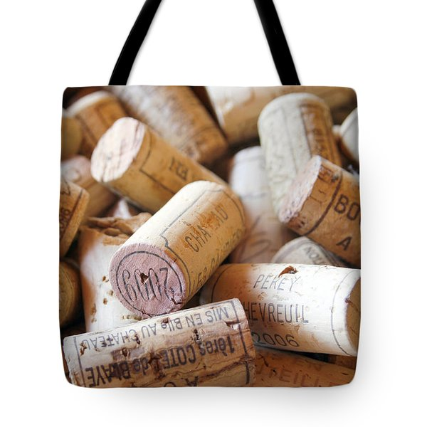French Wine Corks Tote Bag by Georgia Fowler