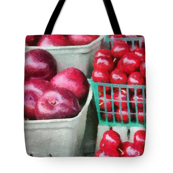 Fresh Market Fruit Tote Bag by Jeff Kolker