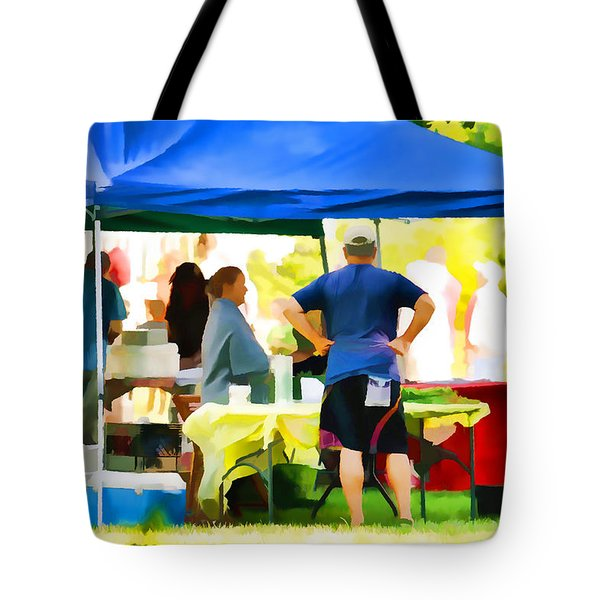 Fresh Organic Food At The Local Farmers Market Tote Bag by Lanjee Chee