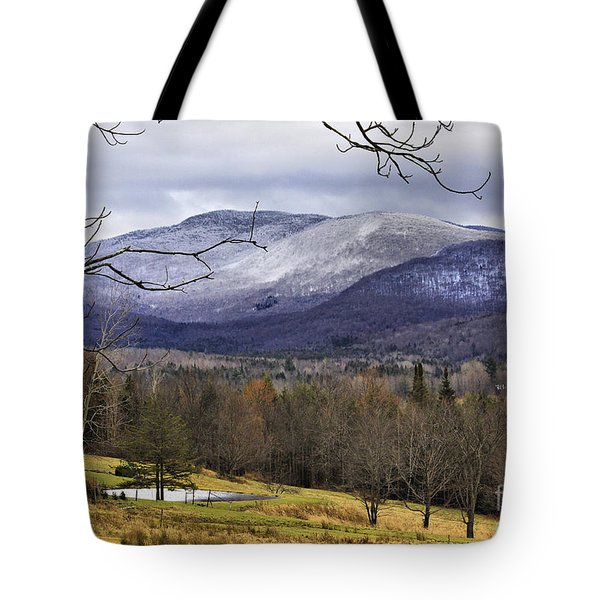 Fresh Snow Tote Bag by Deborah Benoit
