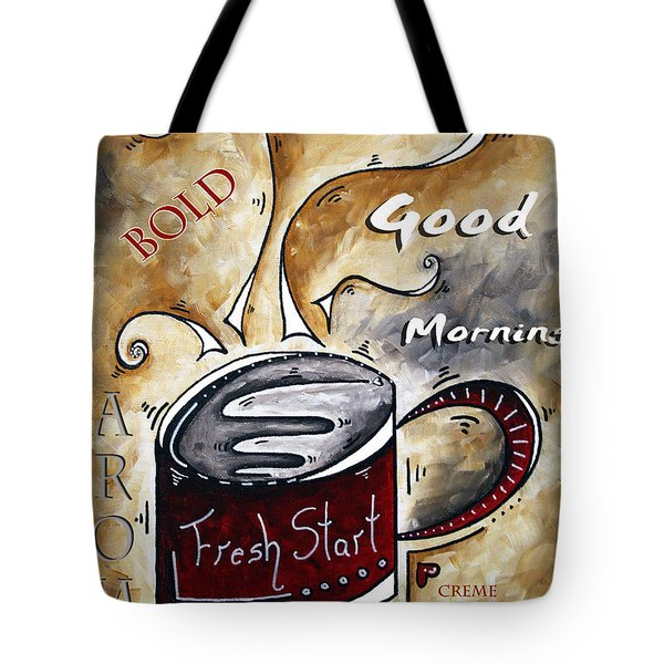 Fresh Start By Madart Tote Bag by Megan Duncanson