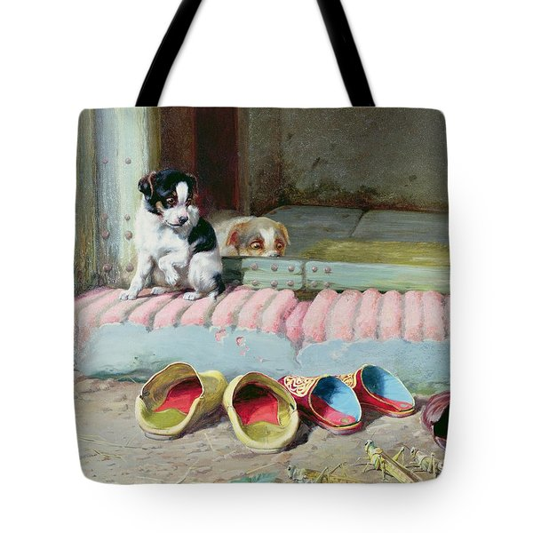 Friend Or Foe Tote Bag by William Henry Hamilton Trood
