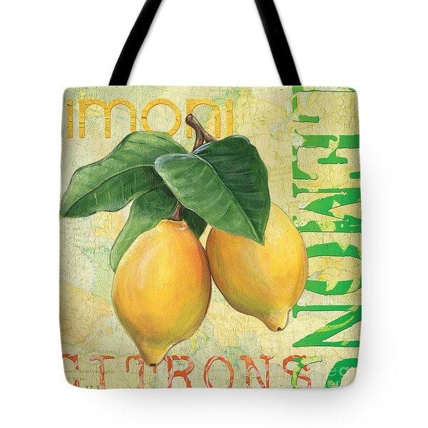 Froyo Lemon Tote Bag by Debbie DeWitt