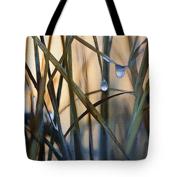 Frozen Raindrops Tote Bag by Sharon Foster