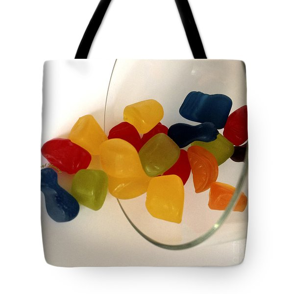 Fruit Gummi Candy Tote Bag by Cheryl Young