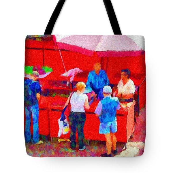Fruit of the Vendor Tote Bag by Jeff Kolker