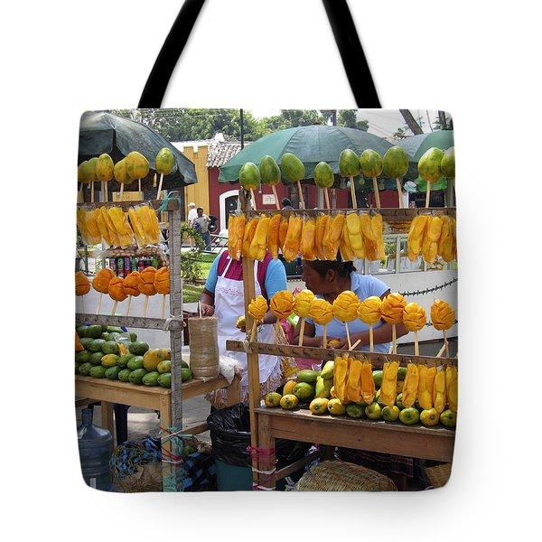 Fruit Stand Antigua  Guatemala Tote Bag by Kurt Van Wagner