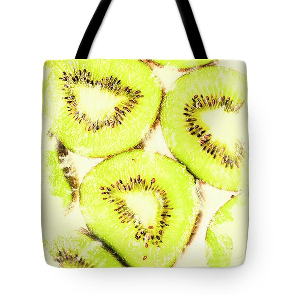 Full Frame Shot Of Fresh Kiwi Slices With Seeds Tote Bag by Jorgo Photography - Wall Art Gallery
