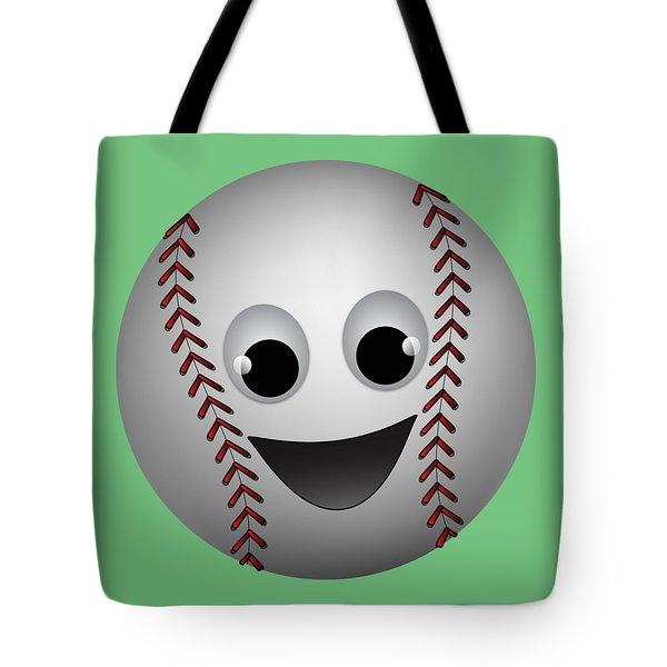 Fun Baseball Character Tote Bag by MM Anderson