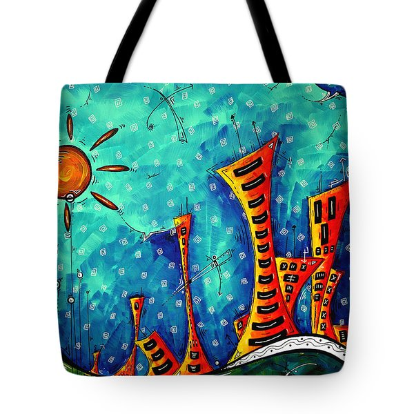 Funky Town Original Madart Painting Tote Bag by Megan Duncanson