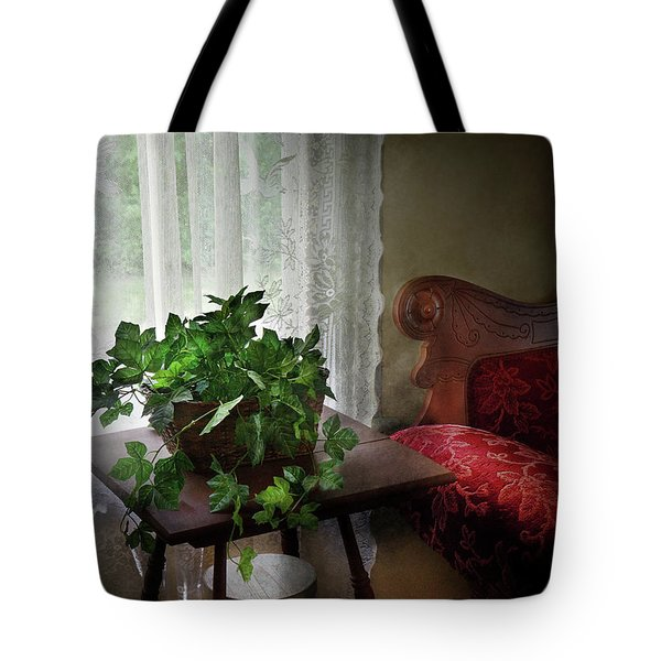 Furniture - Plant - Ivy in a window  Tote Bag by Mike Savad