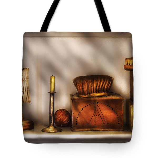 Furniture - Shelf - A Collection Of Curious Items Tote Bag by Mike Savad