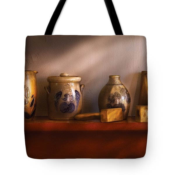 Furniture - Shelf - Family Heirlooms  Tote Bag by Mike Savad