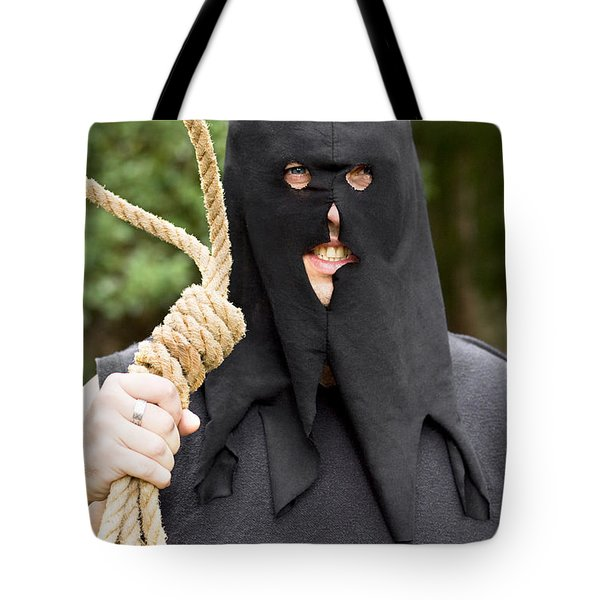 Gallows Hangman With Noose Tote Bag by Ryan Jorgensen