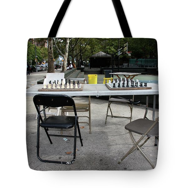 Game Of Chess Anyone Tote Bag by Terry Wallace