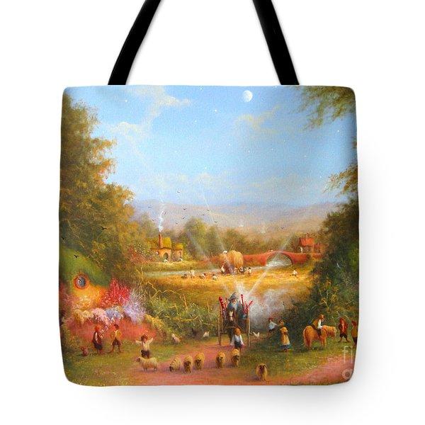 Gandalf's Return Fireworks In The Shire. Tote Bag by Joe  Gilronan