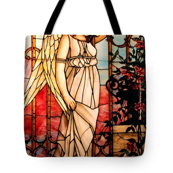 Garden Angel Tote Bag by Kristin Elmquist