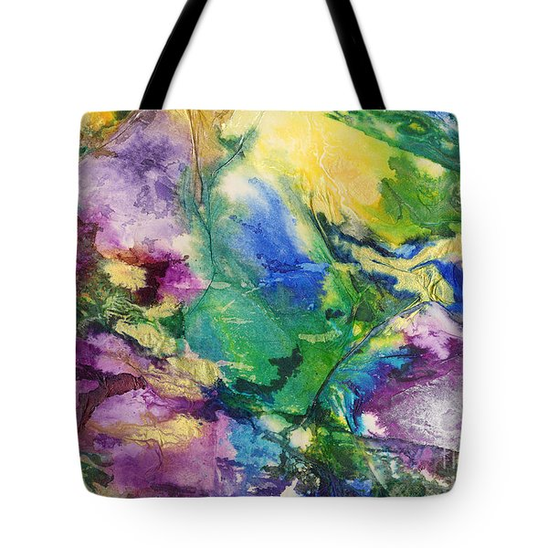 Garden Hues A Collage In The Colors Of A Country Garden Tote Bag by Phil Albone