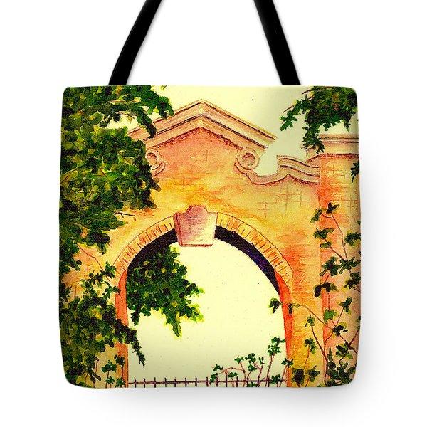 Garden Scene Tote Bag by Michael Vigliotti