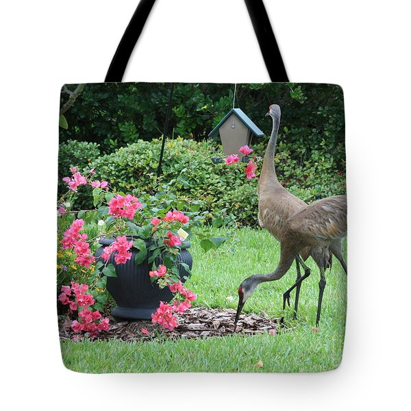 Garden Visitors Tote Bag by Carol Groenen