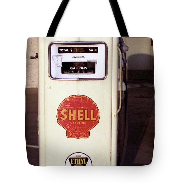 Gas Pump Tote Bag by Michael Peychich