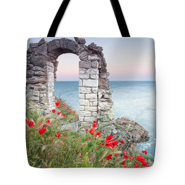Gate In The Poppies Tote Bag by Evgeni Dinev