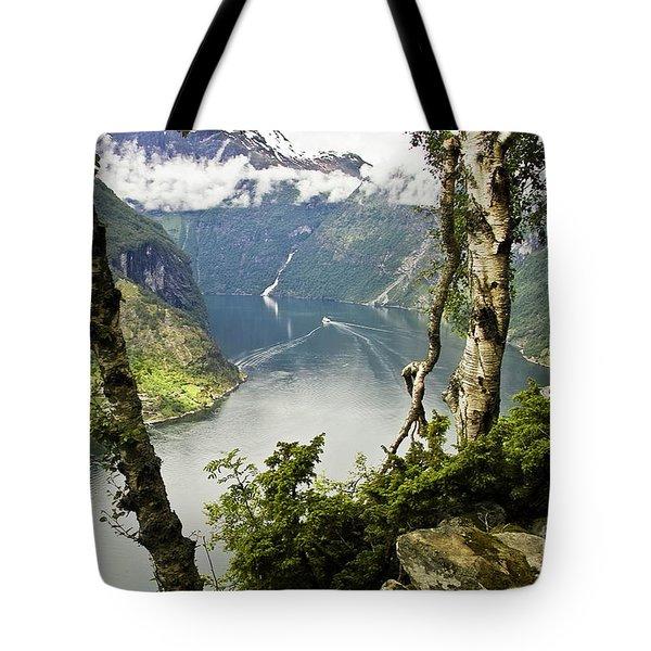 Geiranger Fjord Tote Bag by Heiko Koehrer-Wagner