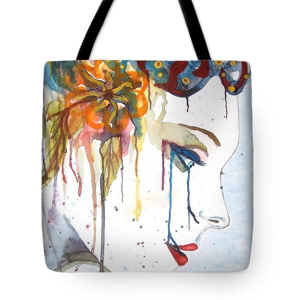 Geisha Soul Watercolor Painting Tote Bag by Georgeta  Blanaru