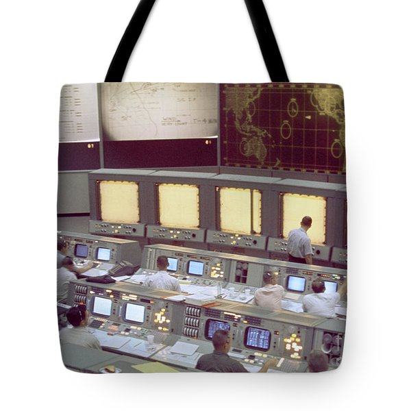 Gemini Mission Control Tote Bag by Nasa/Science Source