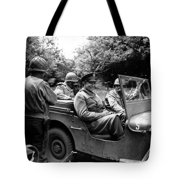 General Eisenhower In A Jeep Tote Bag by War Is Hell Store