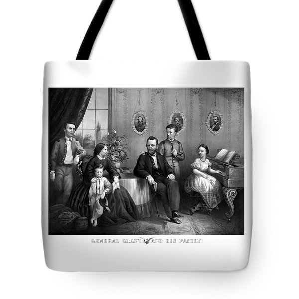 General Grant And His Family Tote Bag by War Is Hell Store