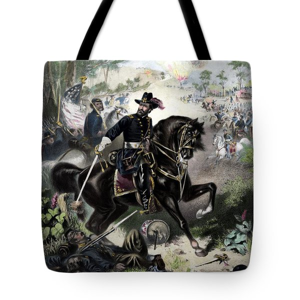 General Grant During Battle Tote Bag by War Is Hell Store