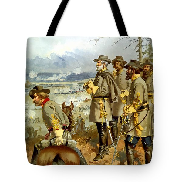 General Lee at The Battle of Fredericksburg Tote Bag by War Is Hell Store