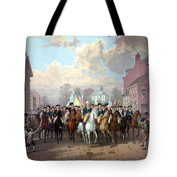General Washington Enters New York Tote Bag by War Is Hell Store